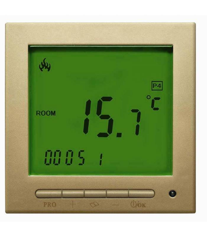 Digital Thermostat Gold Gelb 603PWGG *neue Software