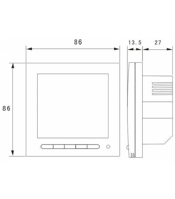 Termostato digitale del nuovo software di 603PWA antracite