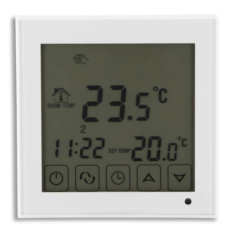 raumthermostat touch fu bodenheizung 16a el2 weiss. Black Bedroom Furniture Sets. Home Design Ideas