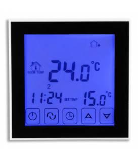Digitale thermostaat Touch vloerverwarming 16A EL2 Zwart