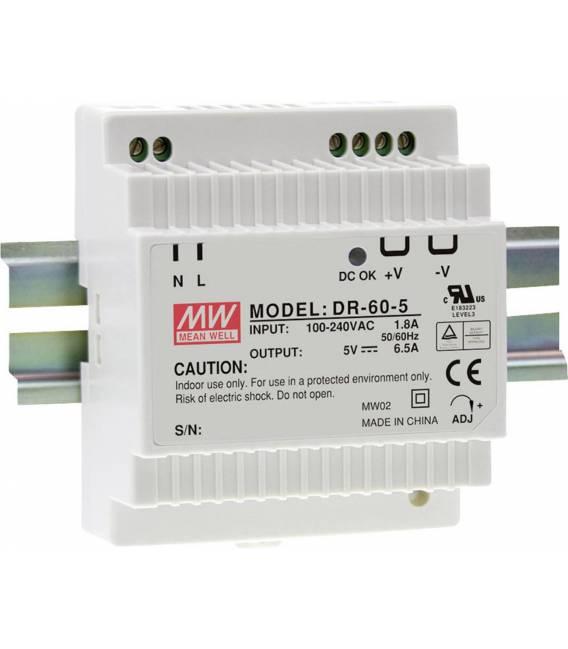 Mean Well Hutschienen-Netzteil (DIN-Rail) DR-60-24 24 V/DC 2.5A 60W 1x