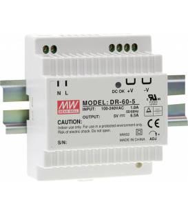 Fuente de alimentación del riel del sombrero del medio bueno (DIN-Rail) DR-60-24 24 V/DC 2.5A 60W 1x