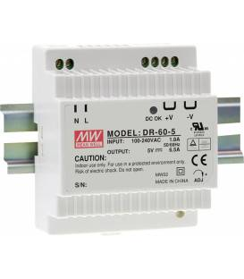 Rails à chapeau Mean Well (DIN-Rail) DR-60-24 24 V/DC 2.5A 60W 1x