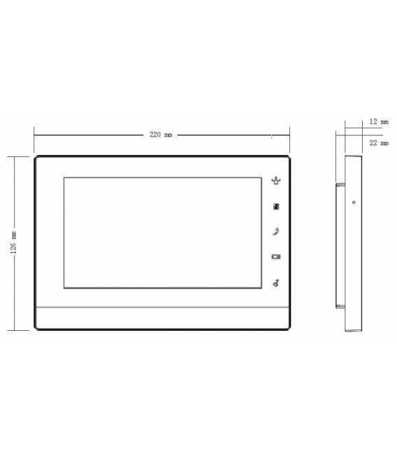 7 Zoll 2-Draht TFT Farbmonitor Innenstation VTH1550CHW-2