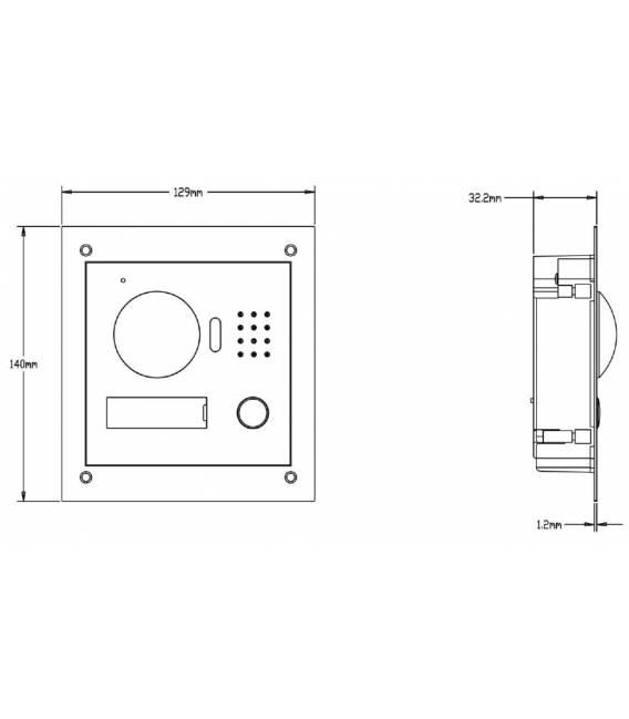2-Draht Außenstation mit IP-Kamera VTO2000A-2 (2-Draht)