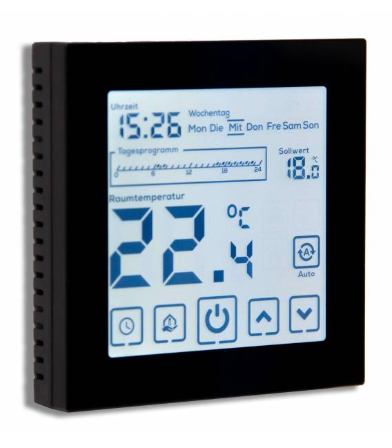 Digital Thermostat Fussbodenheizung EL05 Schwarz -Thermostat Fussbodenheizung