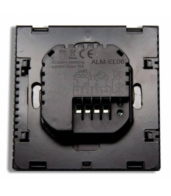 Digital Thermostat Fussbodenheizung EL06 Schwarz -Thermostat Fussbodenheizung