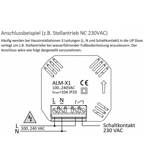 Digital Thermostat Underfloor Heating EL05 White