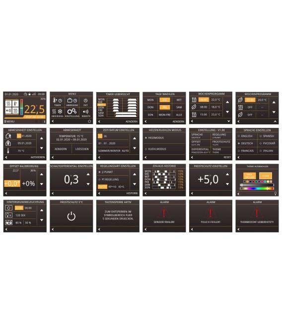 Digital Thermostat Fussbodenheizung X1 Farbdisplay Touch