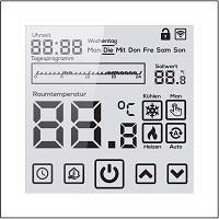 Digital Thermostat EL05 Weß Design
